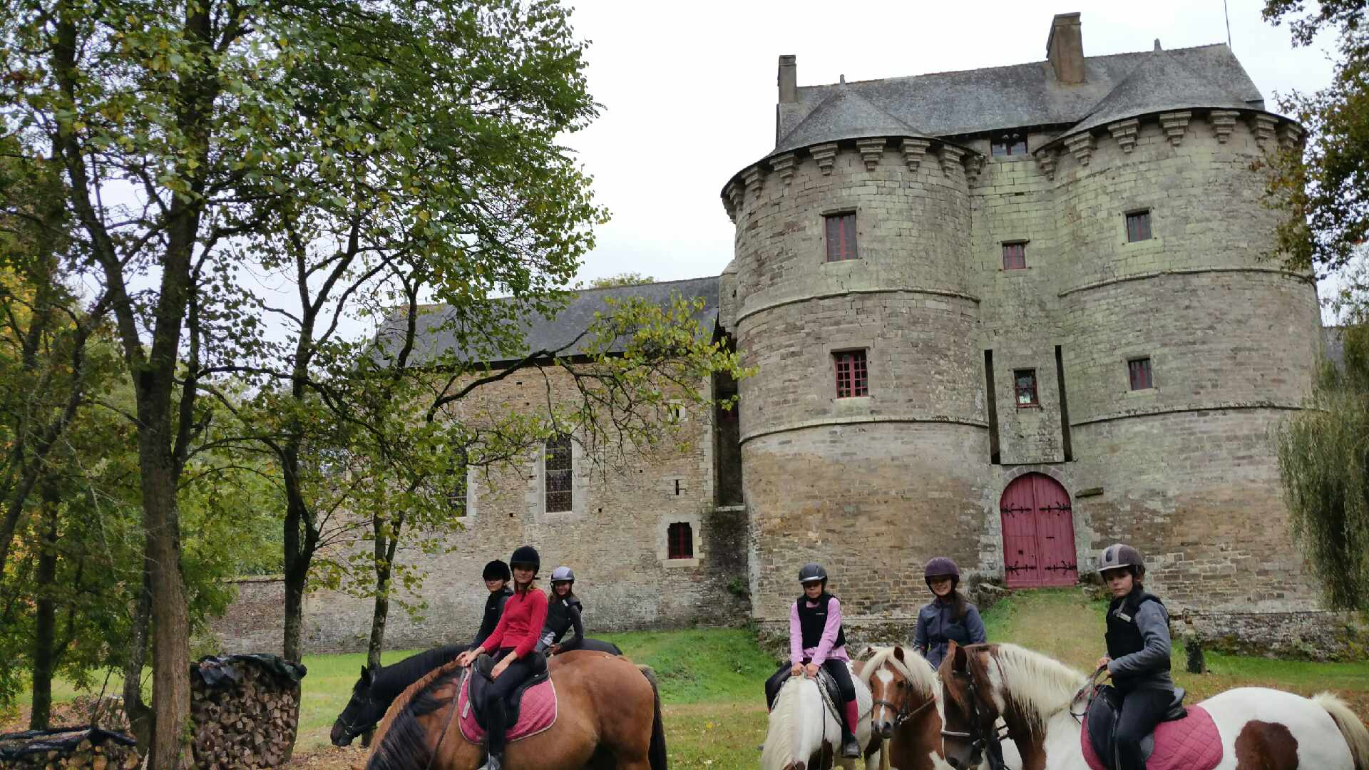 Ballade à cheval au chateau de Montauban